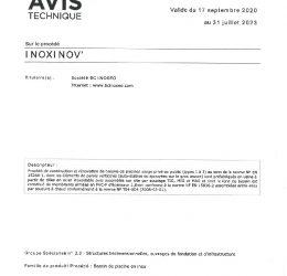 thumbnail of AVIS TECHNIQUE INOXINOV